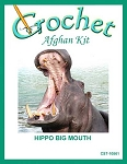Hippo Big Mouth Crochet Afghan Kit