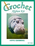 Hippo Swimming Crochet Afghan Kit