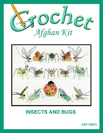 Insects And Bugs Crochet Afghan Kit