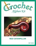 Red Catapillar Crochet Afghan Kit