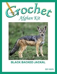 Black Backed Jackal Crochet Afghan Kit