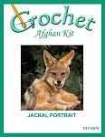 Jackal Portrait Crochet Afghan Kit