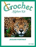 Jaguar Portrait Crochet Afghan Kit
