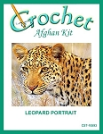 Leopard Portrait Crochet Afghan Kit