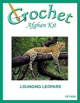 Lounging Leopard Crochet Afghan Kit