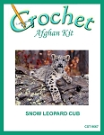 Snow Leopard Cub Crochet Afghan Kit