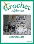 Snow Leopards Crochet Afghan Kit