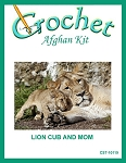 Lion Cub And Mom Crochet Afghan Kit