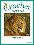 Lion Face Crochet Afghan Kit