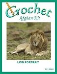 Lion Portrait Crochet Afghan Kit