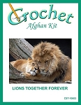 Lions Together Forever Crochet Afghan Kit