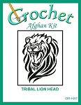 Tribal Lion Head Crochet Afghan Kit