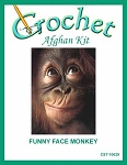 Funny Face Monkey Crochet Afghan Kit