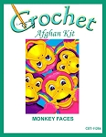 Monkey Faces Crochet Afghan Kit