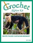 White Faced Capuchin Monkey Crochet Afghan Kit