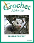 Opossum Portrait Crochet Afghan Kit