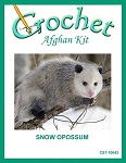 Snow Opossum Crochet Afghan Kit