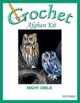 Night Owls Crochet Afghan Kit