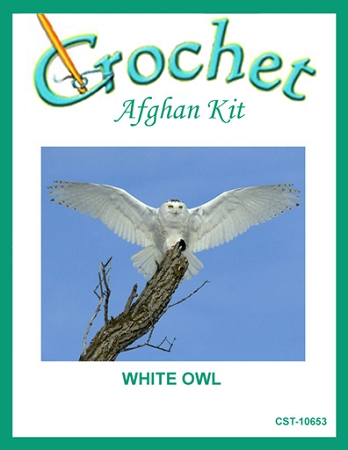 White Owl Crochet Afghan Kit