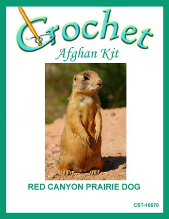 Red Canyon Prairie Dog Crochet Afghan Kit