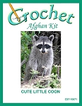Cute Little Coon Crochet Afghan Kit