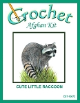 Cute Little Raccoon Crochet Afghan Kit
