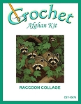 Raccoon Collage Crochet Afghan Kit