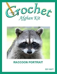 Raccoon Portrait Crochet Afghan Kit
