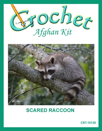 Scared Raccoon Crochet Afghan Kit