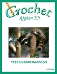 Tree Hugger Raccoon Crochet Afghan Kit