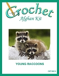 Young Raccoons Crochet Afghan Kit