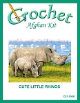 Cute Little Rhinos Crochet Afghan Kit