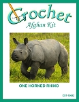 One Horned Rhinos Crochet Afghan Kit