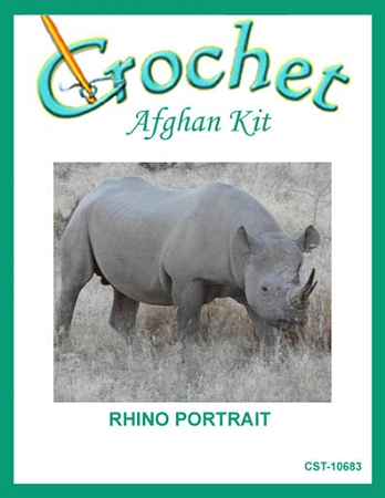 Rhino Portrait Crochet Afghan Kit