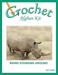 Rhino Standing Around Crochet Afghan Kit