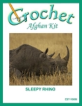 Sleepy Rhino Crochet Afghan Kit