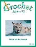 Tiger In The Water Crochet Afghan Kit