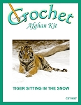 Tiger Sitting In The Snow Crochet Afghan Kit