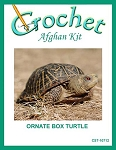 Ornate Box Turtle Crochet Afghan Kit