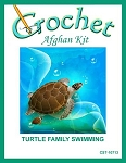 Turtle Family Swimming Crochet Afghan Kit