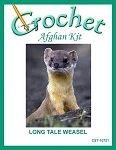 Long Taile Weasel Crochet Afghan Kit