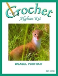 Weasel Portrait Crochet Afghan Kit