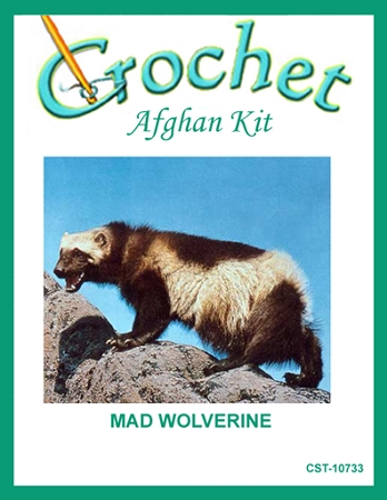 Mad Wolverine Crochet Afghan Kit