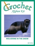 Wolverine In The Snow Crochet Afghan Kit