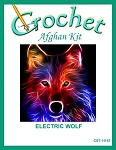 Electric Wolf Crochet Afghan Kit