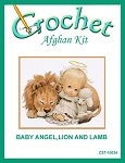 Baby Angel, Lion and Lamb Crochet Afghan Kit