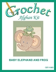 Baby Elephand And Frog Crochet Afghan Kit