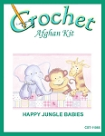 Happy Jungle Babies Crochet Afghan Kit