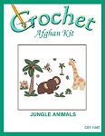Jungle Animals Crochet Afghan Kit