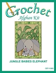 Jungle Babies Elephant Crochet Afghan Kit